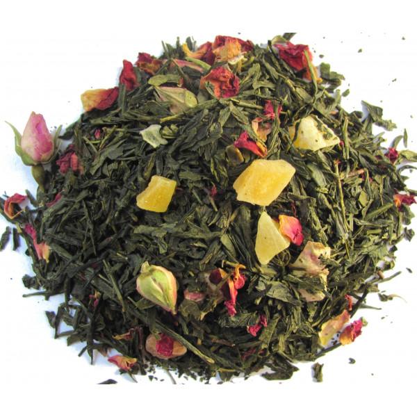 Thé Papaye, Kiwi, Boutons de rose -Thé vert TROUBADOUR - Compagnie Anglaise des Thés