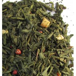 Thé en vrac Amande, Poivre rose, Cannelle - Thé vert TOUNDRA - Compagnie Anglaise des Thés