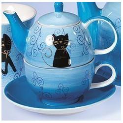 Théière Solitaire Chat Noir