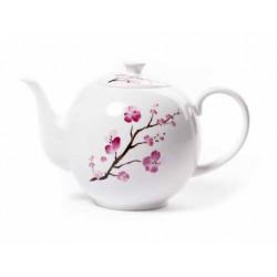 Théière en porcelaine Fleurs de cerisier - Contenance : 1,2l