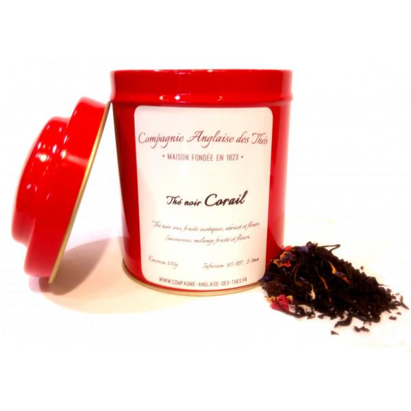 Thé noir CORAIL en boîte