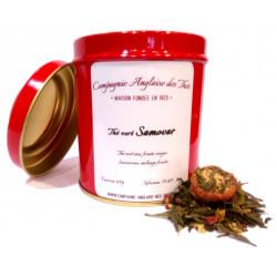 Thé FRAISE, FRAMBOISE - Boîte de thé vert SAMOVAR