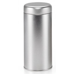 Boîte Argentée Cylindrique