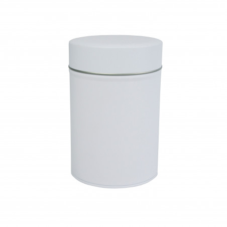 Boîte Cylindrique Blanche