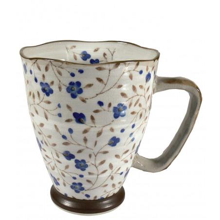 Mug Japonais fleurs bleues