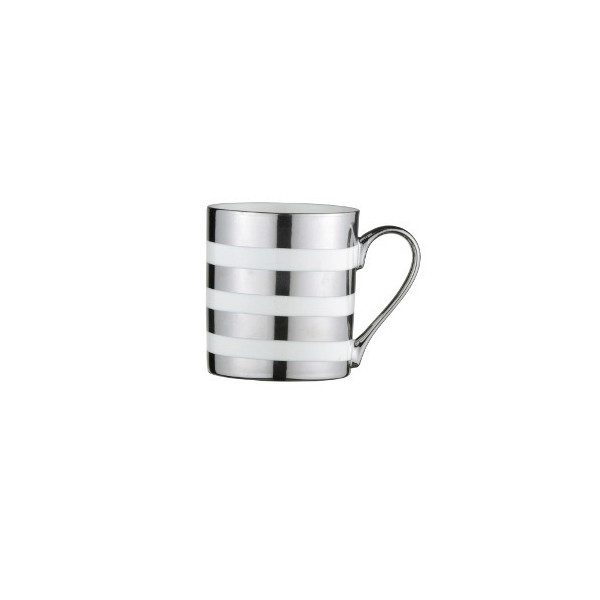 Mug Rayures Argent - Compagnie Anglaise des Thés