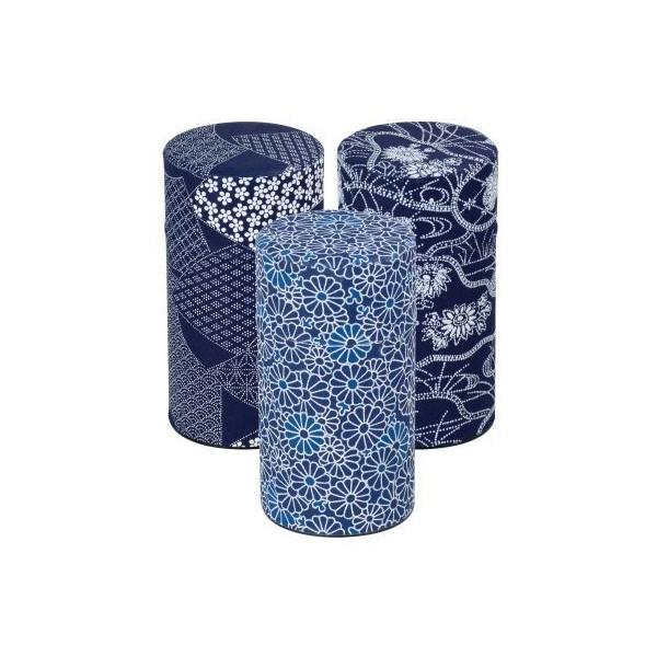 Boîte papier japonais bleu - Compagnie Anglaise des Thés