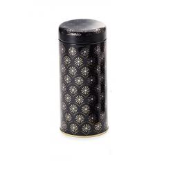 Boîte cylindrique Mandala Noir - Compagnie Anglaise des Thés