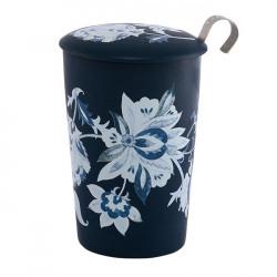 Tisanière Fleurs bleues - Compagnie Anglaise des Thés