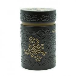 Boîte cylindrique Marron avec relief - Compagnie Anglaise des Thés