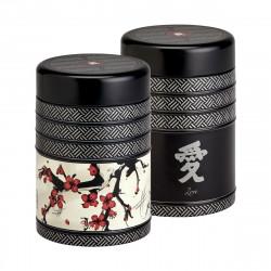 Boîte cylindrique Calligraphie