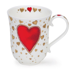 Mug Dunoon Coeur rouge - Compagnie Anglaise des Thés