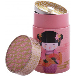 Boîte cylindrique Geisha rose - Compagnie Anglaise des Thés