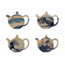 Soucoupe Fuji repose sachet de thé  - Compagnie Anglaise des Thés