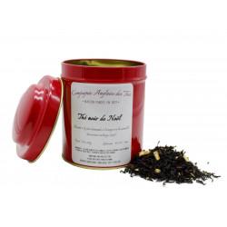 Thé PÂTE D'AMANDE, ORANGE, CANNELLE -Thé noir de NOËL en boîte - Compagnie Anglaise des Thés