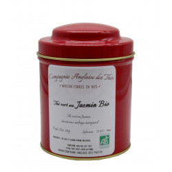 Thé Vert JASMIN BIO en boîte - Compagnie Anglaise des Thés